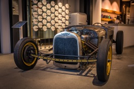 Brenner's Hot Rod on display at Messner Optik, Basel