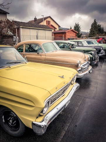 Custom Parts & Wear Easter Party: Marcel's 1964 Ford Ranchero, Lukas' 1950 Chevy Styleline, Matzes 1939 Chevy Bomb
